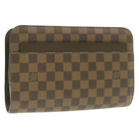 LOUIS VUITTON Damier Ebene Saint Louis Clutch Bag N51993 LV Auth pg306