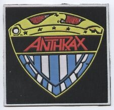 Anthrax Shield Logo synthetic 3D patch early 80's RARE