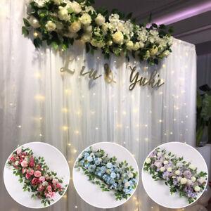 Wedding Row Decor Floral Wall Arrangements Artificial Peony Rose Flower Backdrop