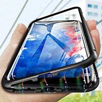 COVER per Samsung Galaxy J6 2018 Alluminio Glass MAGNETICA RETRO VETRO TEMPERATO