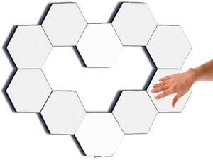 Modular Hexagon Honeycom Wall Touch Lights Lamps Smart Gaming Helios (10 Pack)