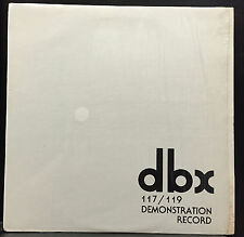 dbx 120 Series Demonstration Record 117/119 Rare Audiophile Promo Vinyl LP