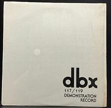 dbx 120 Series Demonstration Record 117/119 Rare Audiophile Promo Vinyl LP