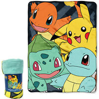 "New Pokemon fore Friends Pikachu Super Soft Plush Large Throw Blanket 46""x60"""