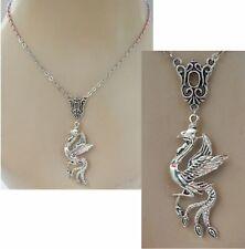 Jewelry Handmade Women Adjustable Fashion Phoenix Necklace Bird Silver Pendant