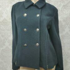 Giorgio Armani Black Wool Cashmere Jacket Coat Womens 46 US 14 Double Breasted
