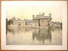 LE LAC DE L'IMMORTALITÉ À AMRITSAR Inde - Photochromie fin 19ème  gravure
