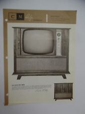 c.1959 Curtis Mathes Television Model 9423 TV Catalog Sheet Brochure Vintage VG