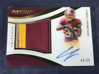 I4-57 FOOTBALL CARD - CHRIS THOMPSON - AUTOGRAPHED - JERSEY SWATCH - 2018 PANINI