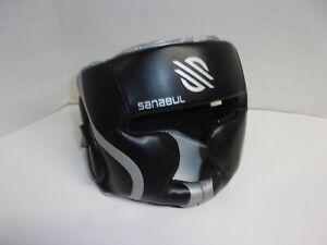 Sanabul Padded Head Guard Gear Bar Black - Silver Size: S/M Adjustable