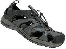 Rockport Men's Fisherman Sandals Black/Dark Grey Leather Size 11 M
