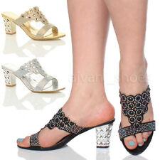 Scarpe da donna blocchetto con tacco medio (3,9-7 cm) sintetico