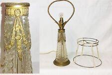 RARE LAMPE À POSER EN CRISTAL ORNÉE DE BRONZE XIXe