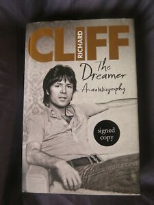 CLIFF RICHARD HARDBACK BOOK THE DREAMER AUTOBIOGRAPHY SIGNED AUTOGRAPHED