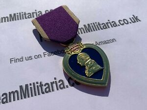 Replica Purple Heart Medal, WW2, Brand New Copy/Reproduction