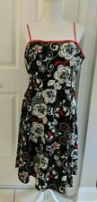Metaphor Women's red black and white  Sundress Party Dress Sz 16