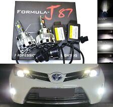 LED Kit H2L 70W D2S 6000K White Head Light Two Bulbs Plug Play Bi-Xenon Replace