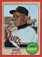 1968 Topps #50 Willie Mays LOW GRADE PAPER LOSS San Francisco Giants FREE SHIP