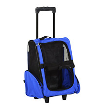 Pet Travel Carrier Backpack Stroller Trolley Foldable Puppy Dog Cat Wheels Bag