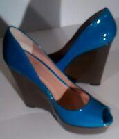 Vince Camuto shoes  platform women Laddel open-toe leather blue & grey shoes 7.5