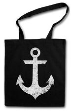 TATTOO ANCHOR HIPSTER BAG - Stofftasche Stoffbeutel Jutebeutel - Anker Nautical