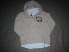 Tom Tailor Sweat Kapuzenpullover mit Hemdeinsatz Gr. 116/122 sehr guter Zustand