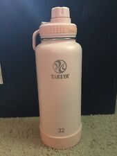 Takeya Actives Insulated Stainless Steel Water Bottle w/ Spout Lid, 32 oz, Blush
