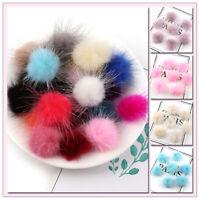 10 Pcs/pack 3CM DIY Pompoms Balls Mink Fur Ball Pom Pom DIY Keychains Earrings