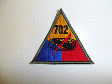 b0604-702 WWII US Army Armored Tank Battalion Triangle patch 702nd PB3