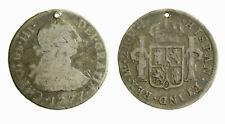 s281_14) SPAIN Carolus III  Perù SPANISH COLONY 2 Reales  1795 MJ LIMA