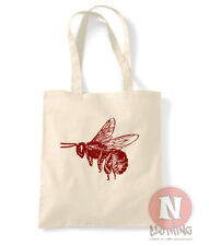 Bee tote bag beekeeper honey hive shopping 100% cotton enviromental