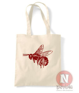 Abeja Bolsa Beekeeper Miel Hive Compras 100% Algodón Ambiental