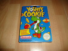 YOSHI'S COOKIE FOR NINTENDO NES NEW FACTORY SEALED BACK BOX IN ENGLISH - FRENCH