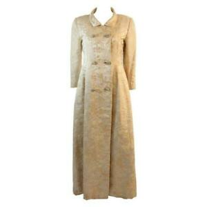 BEN ZUCKERMAN 2 pc Cream, Silver Brocade Coat & Gown