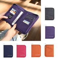 Canvas Passport Credit ID Card Holder Cash Organizer Bag Purse Wallet