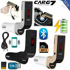 More details for wireless car mp3 bluetooth fm transmitter radio music player lcd usb charger kit
