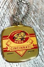 Vintage 1990 Cincinnati Reds Wincraft  Metal Key Chain