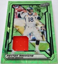 Peyton Manning 2019 Panini VIP Gold National Convention Patch Green Prizm 05/25