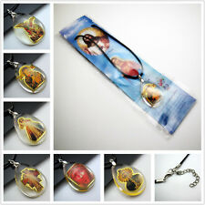 "FREE catholic Saint Jesus Virgin Mary crystal Drop Pendants Charm Necklaces 18"""