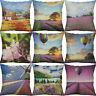 "18"" Printing sea of flowers Cotton Linen Pillow Case Cushion Cover Home Decor"