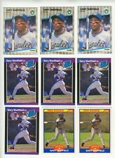 1989 Topps, Donruss, Fleer Score Gary Sheffield Rookie Lot (13 cards)