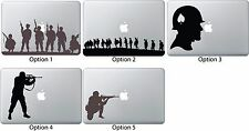 Army Patriotic Spade Helmet Sticker Apple Mac Book Dell Laptop Decal Soldie