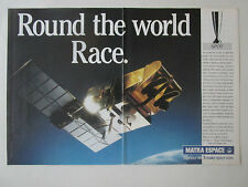 11/1989 PUB MATRA ESPACE ESA CNES SATELLITE SPOT SPACE ORIGINAL AD