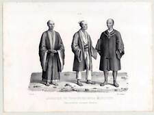 Japaner-Japan-Nihon/Nippon-Kleidung-Tracht-Ethnologie-Lithographie-Honegger 1840