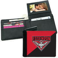 AFL Mens Wallet - Essendon Bombers - 12x10cm - Fits 10 Card + Notes - Sublimated