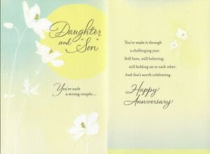 "Hallmark Anniversary Card for Daughter & ""Son""--It's Been a Challenging Year"