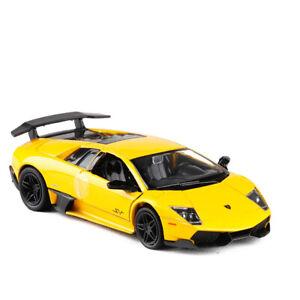 Lamborghini Murcielago LP670-4 SV 1:36 Model Car Diecast Toy Collection Yellow