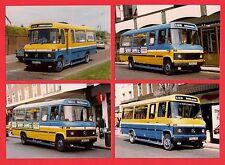 4 Photos ~ Hastings & District: Eastbourne: Mercedes Minibuses C800SDY etc: 1989