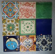 100 Mixed 10.5cm Mexican Talavera Style Tiles (Seconds) 1 sq M