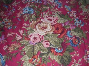 """002A Ralph Lauren Chaps WESTERN SUMMERTON Queen Comforter FLORAL/PLAID 95x95"""""""